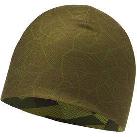 Buff Microfiber Reversible Hat Block Camo Green